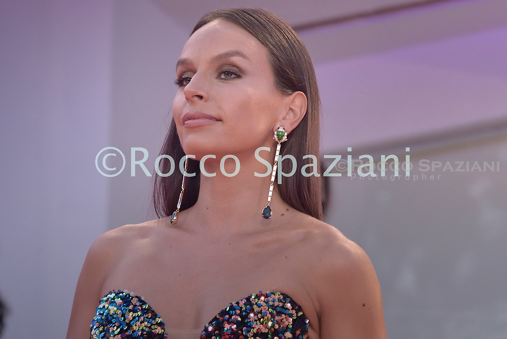 """VENICE, ITALY - SEPTEMBER 10: Eleonora Petrella walks the red carpet ahead of the movie """"Nuevo Orden"""" (New Order) at the 77th Venice Film Festival on September 10, 2020 in Venice, Italy.<br /> (Photo by Rocco Spaziani)"""