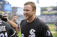 CHICAGO - JULY 23:  Mark Buehrle #56 of the Chicago White Sox after recording the 18th perfect game in major league history against the Tampa Bay Rays on June 23, 2009 at U.S. Cellular Field in Chicago, Illinois.  The White Sox defeated the Rays 5-0. (Photo by Ron Vesely)