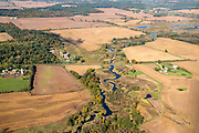 Image from a flight over Marquette County, Wisconsin on a beautiful autumn day.