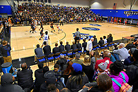It was a mostly full house for the Nolensville Knights vs East Nashville Sub-State basketball playoff game at Nolensville High Monday, March 4, 2019.  The Knights ended the season with a 71-56 loss.<br /> Photo Harrison McClary/News & Observer