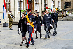 Grand Duke Henri and Grand Duchess Maria Teresa of Luxembourg at the funeral of Grand Duke Jean of Luxembourg at Cathedral Notre-Dame of Luxembourg in Luxembourg City, Luxembourg on May 4, 2019. Grand Duke Jean of Luxembourg has died at 98, April 23, 2019. Photo by Robin Utrecht/ABACAPRESS.COM