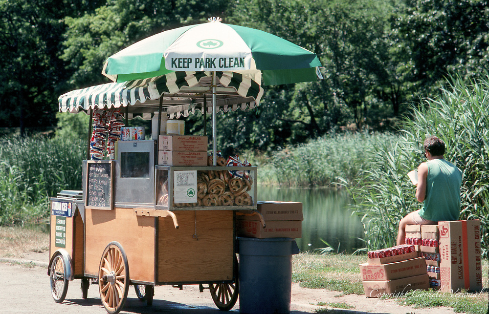 Hotdog vendor at Turtle Pond in Central Park