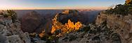 North Rim, Grand Canyon National Park, Cape Royal, sunrise, panoramic,