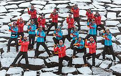 02.12.2015, Lillehammer, NOR, OESV, Nordische Kombinierer, Fotoshooting, im Bild das Teamfoto der Österreichischen Nordischen Kombinierer // Teampicture of the Austrian Nordic Combined Team during the Photoshooting of the Ski Austria Nordic Combined Team in Lillehammer on 2015/12/02 . EXPA Pictures © 2015, PhotoCredit: EXPA/ JFK