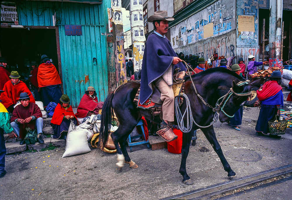 Market day, Guaranda, Chimborazo Province, Ecuador