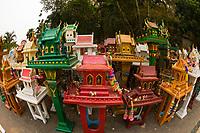 Spirit houses, Khoon Tan, near Chiang Mai, Northern Thailand