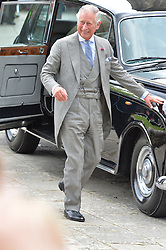 HRH The Prince of Wales at the wedding of the Hon.Alexandra Knatchbull to Thomas Hooper held at Romsey Abbey, Romsey, Hampshire on 25th June 2016