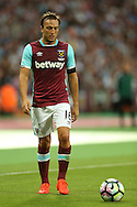 Mark Noble, West Ham United captain looks on. UEFA Europa league, 3rd qualifying round match, 2nd leg, West Ham Utd v NK Domzale at the London Stadium, Queen Elizabeth Olympic Park in London on Thursday 4th August 2016.<br /> pic by John Patrick Fletcher, Andrew Orchard sports photography.