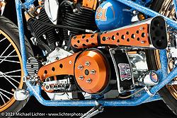 Miller Lite Kool, a 1969 Generator Shovel, built by Arlin Fatland of 2-Wheelers M/C.  Photographed by Michael Lichter in Sturgis, SD. August 3, 2021. ©2021 Michael Lichter