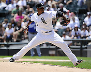 CHICAGO - JULY 06:  Edwin Jackson #33 of Chicago White Sox pitches against the Kansas City Royals on July 6, 2011 at U.S. Cellular Field in Chicago, Illinois.  The Royals defeated the White Sox 4-1.  (Photo by Ron Vesely/MLB Photos via Getty Images)  *** Local Caption *** Edwin Jackson