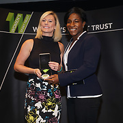 London,England,UK. 11th May 2017. Sponsor Partnetship of the Year Winner is Vitality - Together changing sports for good at the Women's Sport Trust Awards - #BeAGameChanger at The Troxy,london, UK. by See Li