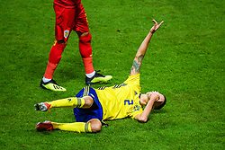 March 23, 2019 - Stockholm, SWEDEN - 190323 Mikael Lustig of Sweden in pain during the UEFA Euro Qualifier football match between Sweden and Romania on March 23, 2019 in Stockholm  (Credit Image: © Simon HastegÃ…Rd/Bildbyran via ZUMA Press)