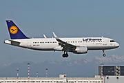 D-AIUX Lufthansa Airbus A320-214(WL) at Malpensa (MXP / LIMC), Milan, Italy