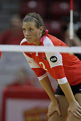 23 October 2010: Leighann Hranka during an NCAA, Missouri Valley Conference volleyball match between the Wichita State Shockers and the Illinois State Redbirds at Redbird Arena in Normal Illinois.