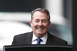© Licensed to London News Pictures. 10/12/2018. London, UK. Liam Fox leaves a Conservative Friends of Israel event in central London. Mrs May is expected to call off tomorrows withdrawal agreement vote when she speaks in the House of Commons later. Photo credit: Peter Macdiarmid/LNP