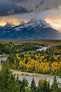 Clearing Afternoon Storm at Snake River Overlook, Grand Teton National Park, Wyoming