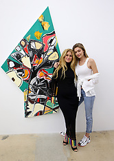 Gigi Hadid and her brother Anwar attend an art gallery opening - 25 Nov 2018