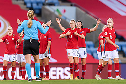 OSLO, NORWAY - Tuesday, September 22, 2020: Norway's Caroline Graham Hansen reacts to the referee during the UEFA Women's Euro 2022 England Qualifying Round Group C match between Norway Women and Wales Women at the Ullevaal Stadion. Norway won 1-0. (Pic by Vegard Wivestad Grøtt/Propaganda)
