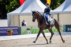 Ahlberg Emma, SWE, Furstepoppel<br /> World Championship Young Horses Verden 2021<br /> © Hippo Foto - Dirk Caremans<br /> 26/08/2021