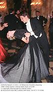 Gabriela Saurel ( U.S.A. )  & Sebastian Droulers dancing. 1998 Crillon Haute Couture Ball. Paris. 6/12/98<br />© Copyright Photograph by Dafydd Jones<br />66 Stockwell Park Rd. London SW9 0DA<br />Tel 0171 733 0108