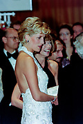 Diana, Princess of Wales with Vogue Magazine editor Anna Wintour during a charity gala fundraising event for the Nina Hyde Center for Breast Cancer Research September 24, 1996 in Washington, DC.