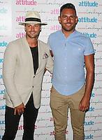 James Hill & Sanjay Sood-Smith, Attitude Magazine's Hot 100 Summer Party, The Rumpus Room at the Mondrian Hotel, London UK, 20 July 2015, Photo by Brett D. Cove