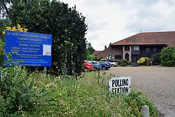 Polling station, Norwich, UK. General election June 2017