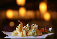 Tempura Combination Plate includes shrimp, vegetables and fish. Monster Sushi is Morristown's newest restaurant specializing in sushi, sashimi, and other Japanese cuisine. Monster Sushi is located at 5 Pine St., Morristown, NJ. Tuesday, Oct. 21, 2015.  Special to NJ Press Media/Karen Mancinelli/Daily Record<br /> MOR 1028 TABLE Monster Sushi Morristown