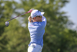 May 6, 2018 - The Colony, TX, U.S. - THE COLONY, TX - MAY 06: Morgan Pressel (USA) hits from the 9th tee during the Volunteers of America LPGA Texas Classic on May 6, 2018 at the Old American Golf Club in The Colony, TX. (Photo by George Walker/Icon Sportswire) (Credit Image: © George Walker/Icon SMI via ZUMA Press)
