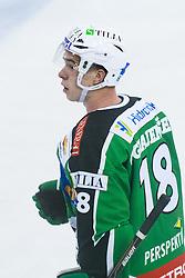 Ken Ograjensek of HDD Tilia Olimpija during friendly ice-hockey game between HDD Tilia Olimpija and KHL Medvescak Zagreb, on August 15, 2011, in Hala Tivoli, Ljubljana, Slovenia. (Photo by Matic Klansek Velej / Sportida)