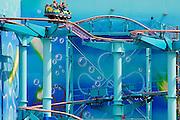 Duitsland, Bottrop, 17-7-2009Achtbaan van het themapretpark Movie Park, movie world.Foto: Flip Franssen/Hollandse Hoogte