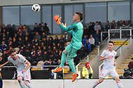 Arnau Tenas of Spain (1) during the UEFA European Under 17 Championship 2018 match between Netherlands and Spain at the Pirelli Stadium, Burton upon Trent, England on 8 May 2018. Picture by Mick Haynes.