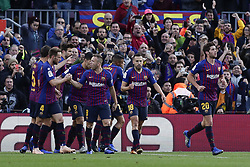 October 28, 2018 - Barcelona, Catalonia, Spain - October 28, 2018 - Camp Nou, Barcelona, Spain - LaLiga Santander- FC Barcelona v Real Madrid CF; Philippe Coutinho of FC Barcelona celebrates scoring his side's first goal against Real Madrid. (Credit Image: © Marc Dominguez/ZUMA Wire)