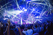 Calvin Harris performing at the iHeartRadio Music Festival in Las Vegas, Nevada on Sepembter 20, 2014.
