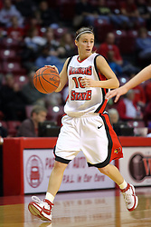 31 December 2007: Kristi Cirone. The Huskies of Northern Illinois University were leashed up by the Redbirds of Illinois State University 78-54 on Doug Collins Court in Redbird Arena in Normal Illinois.