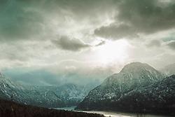 Das Salzkammergut ist ein landschaftlich und historisch geprägter Kulturraum in Österreich, am Nordrand der Alpen. Heute ist der Begriff Salzkammergut Synonym einer Region, die sich von Fuschlsee, Wolfgangsee und Mondsee in das Almtal, vom Tal der Vöckla bis zum Dachstein und dem Grimming erstreckt. Die in der heutigen Tourismusregion Salzkammergut zusammengefassten Gemeinden reichen im Westen sogar bis zur östlichen Stadtgrenze von Salzburg. Geologisch wird es durch die Kalkalpen geprägt, morphologisch von einem Mittelgebirge, in dem zahlreiche Seen liegen. Im Bild der Berg Hirlatz am Hallstätter See, aufgenommen am 28.12.2019, Hallstatt, Oesterreich // The Salzkammergut is a scenic and historically shaped cultural area in Austria, on the northern edge of the Alps. Today the term Salzkammergut is synonymous with a region that stretches from Fuschlsee, Wolfgangsee and Mondsee into the Almtal, from the Vöckla valley to the Dachstein and the Grimming. The communities grouped together in today's Salzkammergut tourist region even extend to the eastern city limits of Salzburg in the west. Geologically, it is shaped by the Limestone Alps, morphologically by a low mountain range in which numerous lakes lie. In the picture the mountain Hirlatz at Lake Hallstatt, Hallstatt, Austria on 2019/12/28. EXPA Pictures © 2020, PhotoCredit: EXPA/ Florian Schroetter