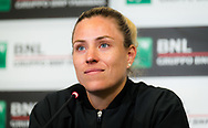 Angelique Kerber of Germany talks to the media after the second round of the 2021 Internazionali BNL d'Italia, WTA 1000 tennis tournament on May 12, 2021 at Foro Italico in Rome, Italy - Photo Rob Prange / Spain ProSportsImages / DPPI / ProSportsImages / DPPI