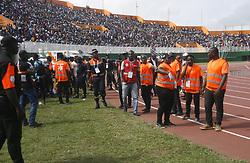 July 31, 2017 - Abidjan, Côte d'Ivoire - Jeux de la Francophonie Abidjan 2017 / Compétitions Sportives Football - Finale Côte d'Ivoire Maroc / Bousculade au stade Félix Houphouét Boigny - Abidjan, 30 juillet 2017 # BOUSCULADE LORS DE LA FINALE DE FOOTBALL DES JEUX DE LA FRANCOPHONIE (Credit Image: © Visual via ZUMA Press)