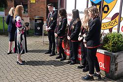 Lochgelly High School Exam results<br /> <br /> Shirley-Anne Somerville chats with some of the Lochgelly High students<br /> <br /> (c) David Wardle | Edinburgh Elite media