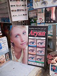 Advert for cosmetic contact lenses, Mumbai
