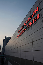 Stock photo of the George R. Brown Convention Center in downtown Houston, Texas