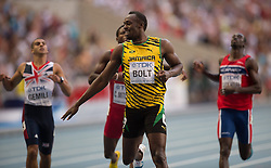 17.08.2013, Luzhniki Stadion, Moskau, RUS, IAAF Leichtathletik Weltmeisterschaft, im Bild Usain Bold beim Finale Sprint auf 200 m // Usian Bold at the 200m FINAL during the IAAF world athletics championships at Luzhniki stadium in Moscow, Russia on 2013/08/17. EXPA Pictures © 2013, PhotoCredit: EXPA/ Newspix/ Marek Biczyk<br /> <br /> ***** ATTENTION - for AUT, SLO, CRO, SRB, BIH, TUR, SUI and SWE only *****