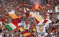 Fotball<br /> Italia<br /> Foto: Inside/Digitalsport<br /> NORWAY ONLY<br /> <br /> Roma 09/5/2007<br /> Coppa Italia Finale Andata<br /> Roma v Inter<br /> <br /> LA CURVA SUD A FINE PARTITA