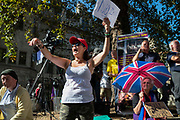 Protesters outside the Supreme Court on day three of the hearing to rule on the suspension of parliament. Supreme Court judges will decide if Prime Minister Boris Johnson acted unlawfully in advising the Queen to prorogue parliament, on September 19th 2019 in London, United Kingdom.