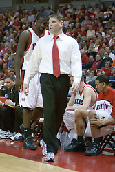 05 February 2005<br /> <br /> Coach Porter Moser.<br /> <br /> 99th competition between Illinois State University Redbirds V Bradley University Braves Men's NCAA, Missouri Valley Conference Basketball.  Redbird Arena. Illinois State University, Normal IL