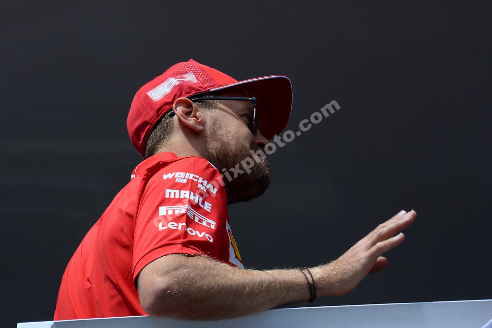 Sebastian Vettel (Ferrari) before the 2019 French Grand Prix at Paul Ricard. Photo: Grand Prix Photo