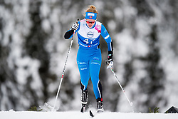 January 11, 2018 - GSbu, NORWAY - 180111 Anne Lise Grubbmo competes in the women's sprint classic technique qualification during the Norwegian Championship on January 11, 2018 in GÅ'sbu..Photo: Jon Olav Nesvold / BILDBYRN / kod JE / 160126 (Credit Image: © Jon Olav Nesvold/Bildbyran via ZUMA Wire)