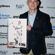 Award winner of the Gay Times Honours on 18th November 2017 at the National Portrait Gallery in London, UK.