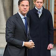NLD/Rotterdam/20180220 - Herdenkingsdienst Ruud Lubbers, Minister-president Mark Rutte