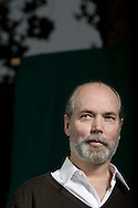 Internationally renowned bestselling Canadian novelist Douglas Coupland, pictured at the Edinburgh International Book Festival where he talked about his new book entitled 'Generation A'. The three-week event is the world's biggest literary festival and is held during the annual Edinburgh Festival. The 2009 event featured talks and presentations by more than 500 authors from around the world.